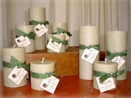 CandleSmith's Hand-poured REAL Bayberry Pillars