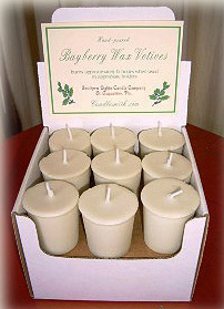 CandleSmith's Hand-poured REAL Bayberry Votive Candles