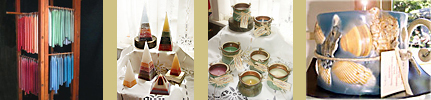 Pyramid Candles, Patio Lites,