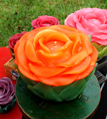 Victorian Rose Candles