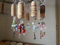 asst repurposed cork keychains