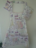 paris apron, mugrug, potholder set